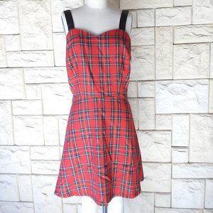 NWT Jawbreaker Red Tartan Skater Dress Large
